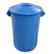 Lixeiras para coleta seletiva cesto plastico PP cilindrico tampa sobreposta 20 40 60 100 litros