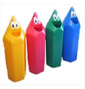 Lixeiras para coleta seletiva cesto plastico polietileno formato lapis 50 litros