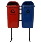 Lixeiras para coleta seletiva conjunto papeleiras 40 e 50 litros