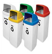Lixeiras para coleta seletiva fiberglass 50 e 60 litros