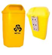 Lixeiras para coleta seletiva individual papeleiras 40 e 50 litros