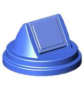 Lixeiras para coleta seletiva tampa polietileno para tambor 200 litros