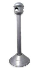 Cinzeiros e bituqueiras, bt06 com 4 aberturas aluminio