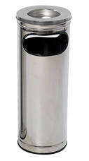 Cinzeiros e bituqueiras, bt14 cinzeiro e lixeira aco inox 25 litros