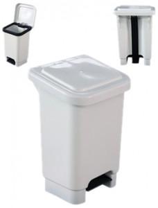 Lixeira com pedal plástica, polipropileno retangular 25 e 50 litros