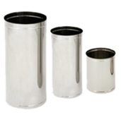 Lixeiras aço inox sem tampa 15, 25, 50, 75 litros