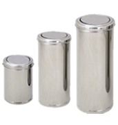 Lixeiras aço inox tampa flip top 15, 25, 50, 75 litros