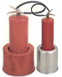 Suporte para extintor aço inox, modelo ex01 e ex02, inox e pintado