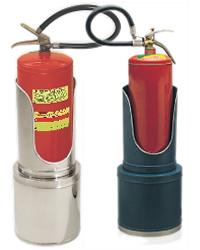 Suporte para extintor aço inox, modelo torre ex04