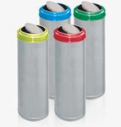 Lixeiras para coleta seletiva Aço inox - aro pintado